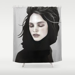 Elsewhere Girl Shower Curtain