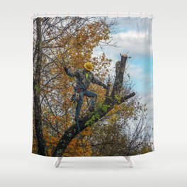 Tree Surgeon Shower Curtain