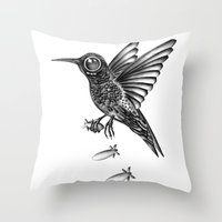war Throw Pillows featuring War by Havier Rguez.