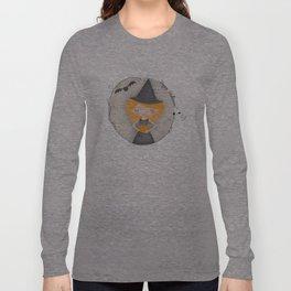 Cute Halloween Witch & Bat Long Sleeve T-shirt