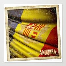 Grunge sticker of Andorra flag Canvas Print