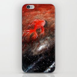 goldfish cosmos iPhone Skin