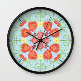 Strawberry Lady  Wall Clock