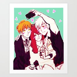 the bf and the gf Art Print