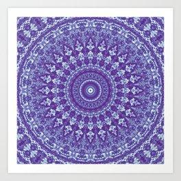 Ornate mandala Art Print