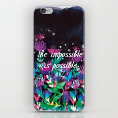 The Impossible is Possible iPhone & iPod Skin