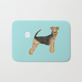 Airedale Terrier funny fart dog breed gifts Bath Mat