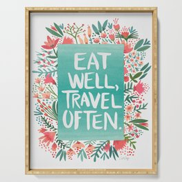 Eat Well, Travel Often Bouquet Serving Tray