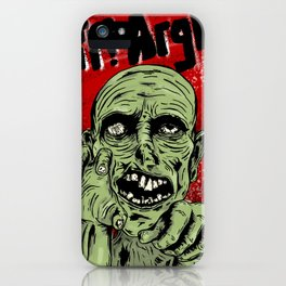 Grr! Argh! Zombie iPhone Case