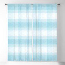 Blue triangles with Scottish style Blackout Curtain
