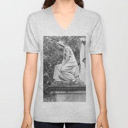 female statue Unisex V-Neck