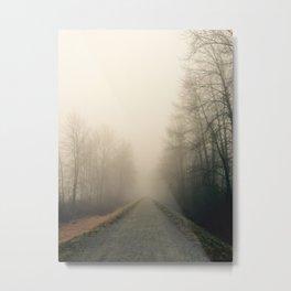 Foggy Vanishing Point. Metal Print