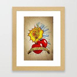 Cherry Bomb - Tattoo Art Framed Art Print