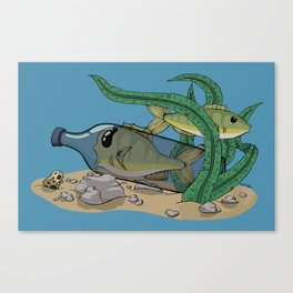 The Fish and the Bottle Canvas Print