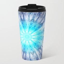 Blue Snowflake Mandala Travel Mug
