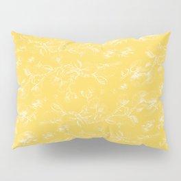 Pohutukawa flowers on gold Pillow Sham