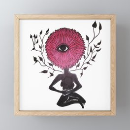 Divine Flower Woman Framed Mini Art Print