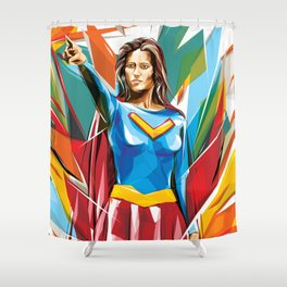 In Vector We Trust Shower Curtain