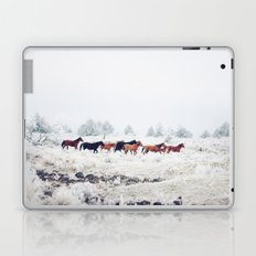 Winter Horse Herd Laptop & iPad Skin