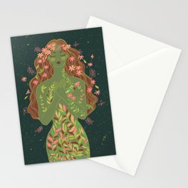 fall nymph Stationery Cards