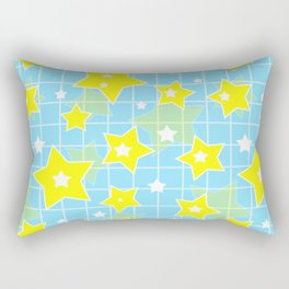 #Yellow #blue #stars Rectangular Pillow