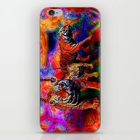 tigers iPhone & iPod Skins featuring Psychedelic Tigers by JT Digital Art