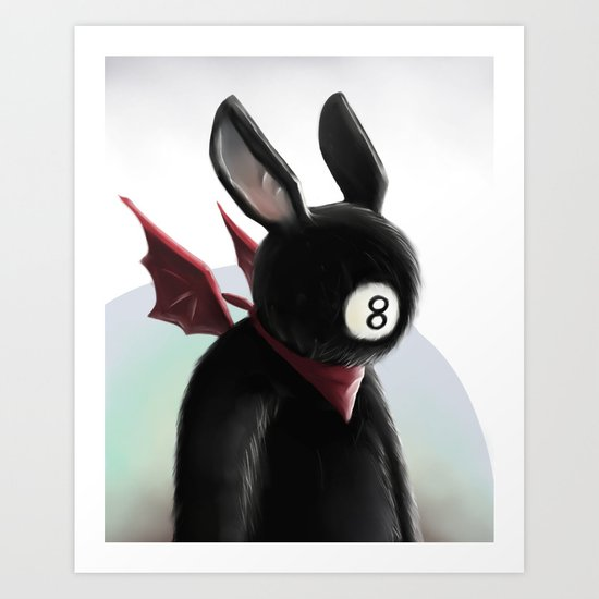Eightball demon Art Print