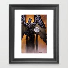 Raven Coveting the Moon Framed Art Print