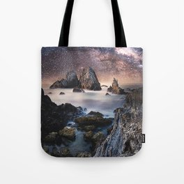 Milky Way Stars Sea Coast Tote Bag