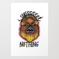 chewbacca Art Prints featuring Chewbacca by Laura Pato