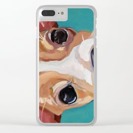 Golf Ball Puppy Clear iPhone Case