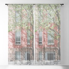 Brooklyn Heights in Spring Sheer Curtain