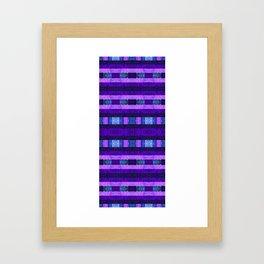 Quilt Top - Deep Purple Framed Art Print