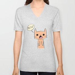 Meow cute cat Unisex V-Neck