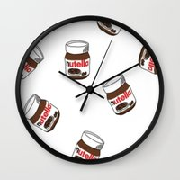 nutella Wall Clocks featuring Nutella by Iotara