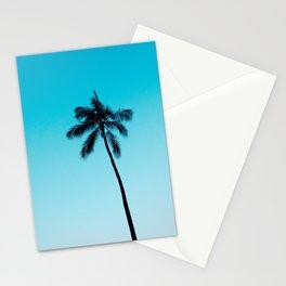 palm tree ver.skyblue Stationery Cards