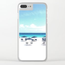elbow beach bermuda Clear iPhone Case