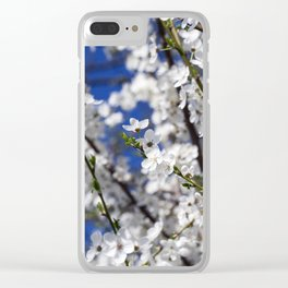 blooming white cherry Clear iPhone Case