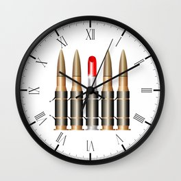 Bullet Belt With Lipstick Wall Clock