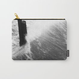 Churning Surf Amongst The Pier Carry-All Pouch