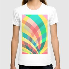 In the circus, colorful pastel shapes T-shirt