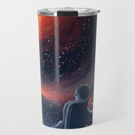 Ghosts in the Sky: Stephen Hawking and Albert Einstein Travel Mug