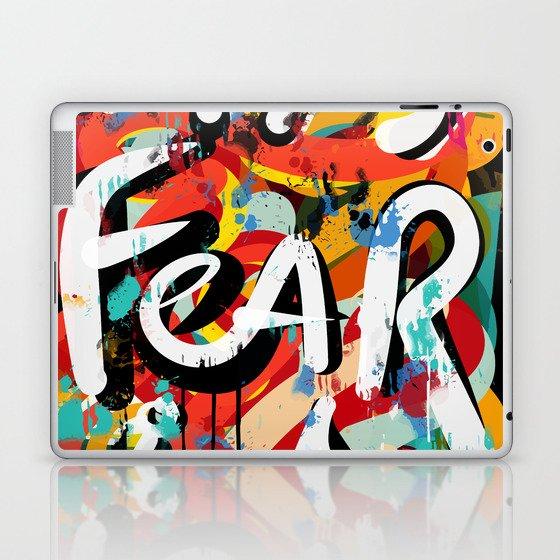 Fear Is Street Art Graffiti Writing Urban Fashion Laptop Ipad
