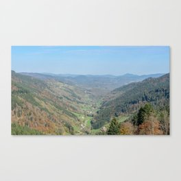 French view in the valley Canvas Print
