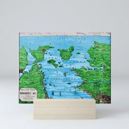 Ariel view of Narragansett Bay, Rhode Island by Jeanpaul Ferro Mini Art Print