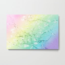 Van Gogh Almond Blossoms : Pastel Rainbows Metal Print