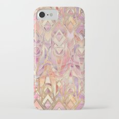 Glowing Coral and Amethyst Art Deco Pattern iPhone 7 Slim Case