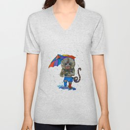 Pygmy Marmoset in the Rain Unisex V-Neck