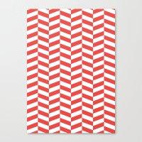 herringbone Canvas Prints featuring Herringbone. by Jake  Williams