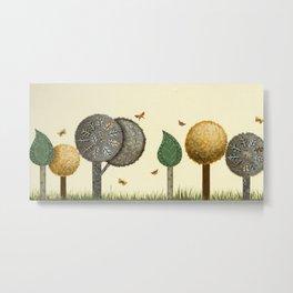 Autumn Butterflies Metal Print
